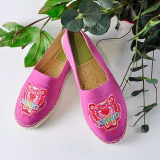 Kenzo Tiger Espadrilles in Pink - Size 37 (5335-3)