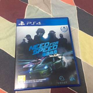 PS4 Game Need For Speed 極速快感