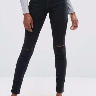 ASOS Skinny Ripped Knee Jeans
