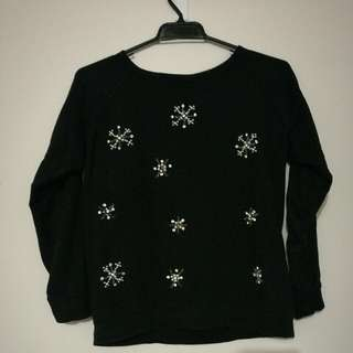 Black Sweatshirt With Embroidery