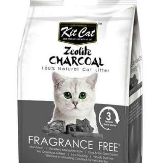 KIT CAT CAT LITTER ZEOLITE CHARCOAL FRAGRANCE FREE 4KG
