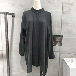 Cos 灰色襯衫洋裝