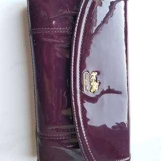 Authentic Coach Patent Leather Madison Envelope Wallet