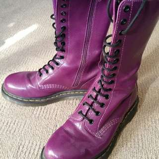As New Authentic Dr Martens Purple Ladies Boots