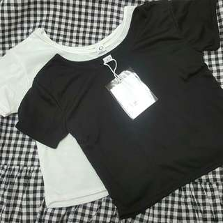 黑白短版上衣