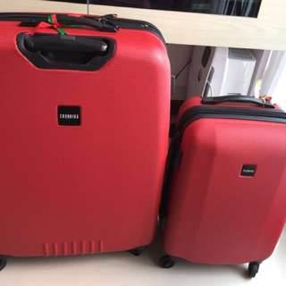 Set of Two Matching Crossing luggages
