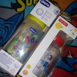 Chicco And Fisher Price Feeding Bottles Set