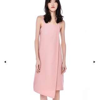 The Editor's Market (TEM) Morissa Overlap Midi Dress