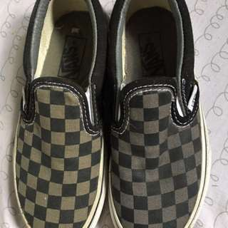 Vans Slip On - Gray checkered