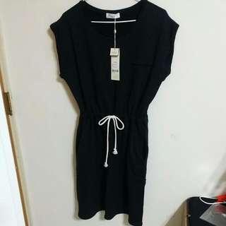 🔺Pazzo 夏日綁繩黑色洋裝