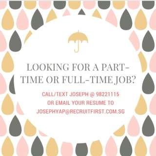 LOOKING FOR ADMIN / RETAIL / SALES / CUSTOMER SERVICE / EVENT JOBS ?? LOOK FOR ME GUYS AND GIRLS !!!