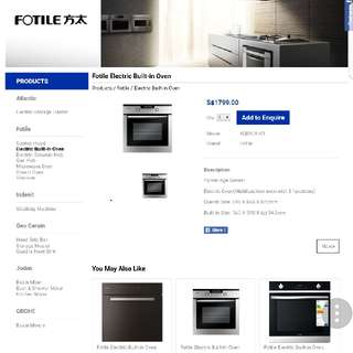 Fotile Eletrical Oven (built in type)