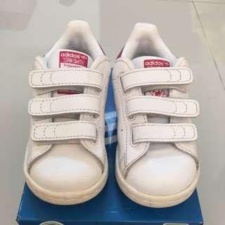 降價啦!!!{小童}二手adidas stan smith球鞋 白色 14cm