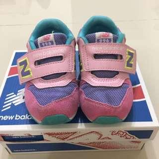 {小童}二手new balance 996 粉紫色童鞋 15.5cm