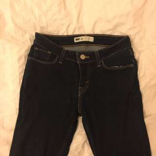 LEVIS 26 Dark Blue Skinny Jeans