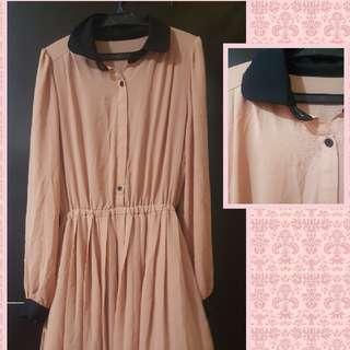 Peach Dress (Elegant/Formal)