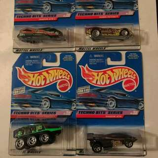 Hotwheels Complete Techno Bits Series Old Cards