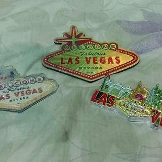 Authentic Las Vegas Nevada Ref Magnets