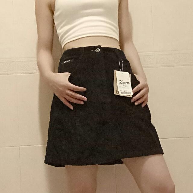 25吋秋燈心絨紮實短裙