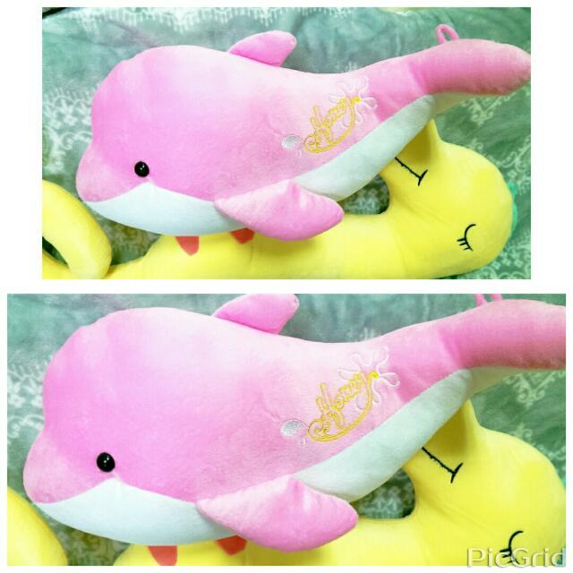 全新超可愛海豚娃娃約43公分,含運