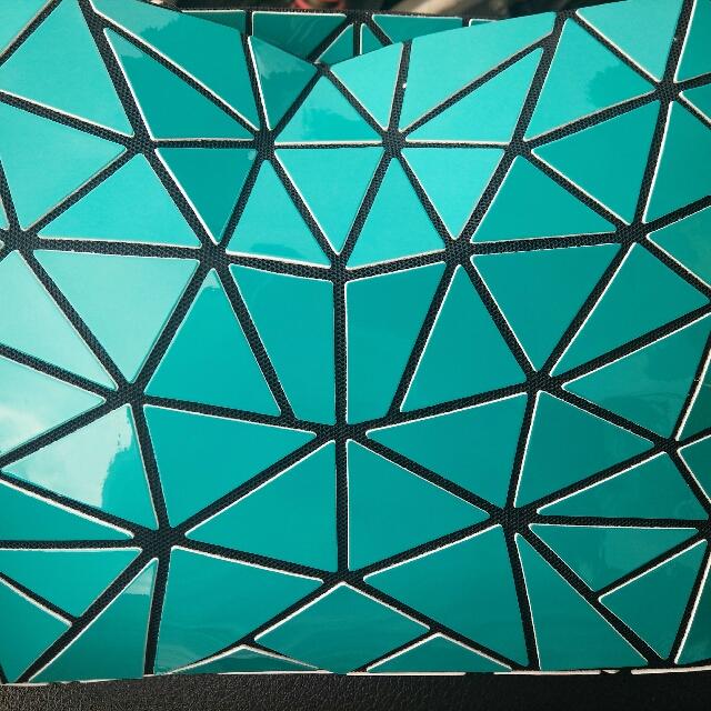 幾何圖形包-綠色