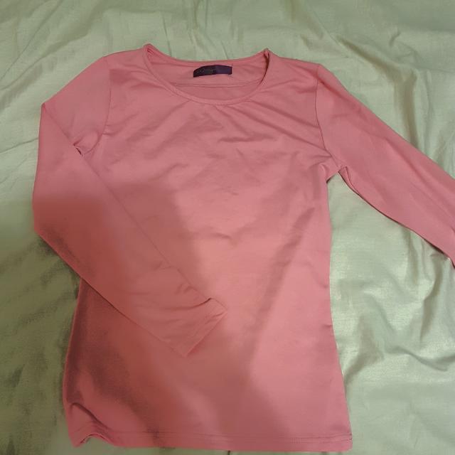桃粉紅 發熱衣