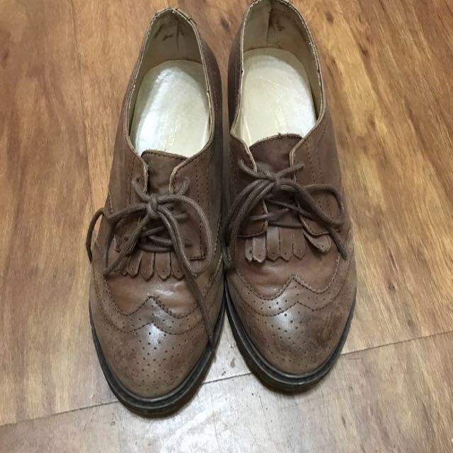 義大利真皮 牛皮 內增高 仿舊 牛津鞋