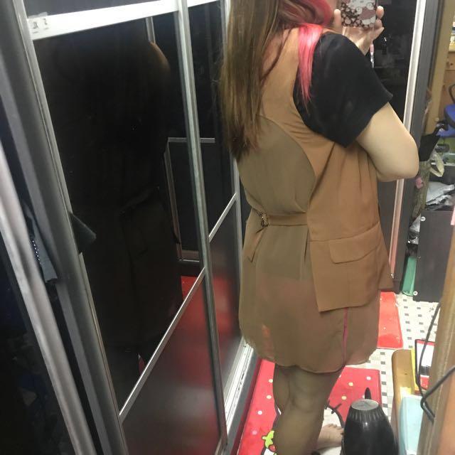 全新 Bess 長款 背心外套 背心 西裝外套