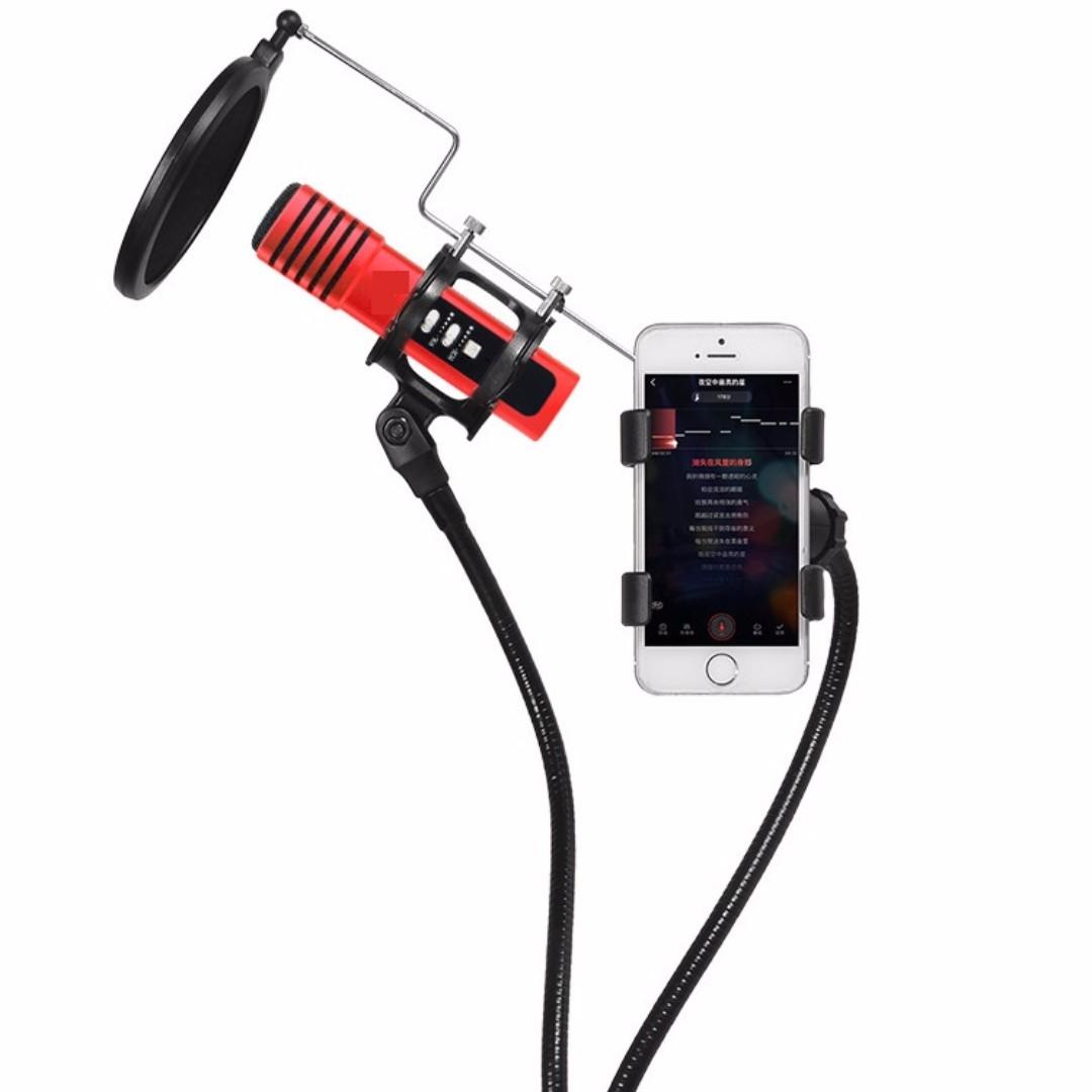 多合一 MV支架 懸臂桌面 手機防噴桌面咪架 大勁減 咪STAND 話筒支架咪架 microphone stand 咪架 mic stand | 適合 有線 無線咪