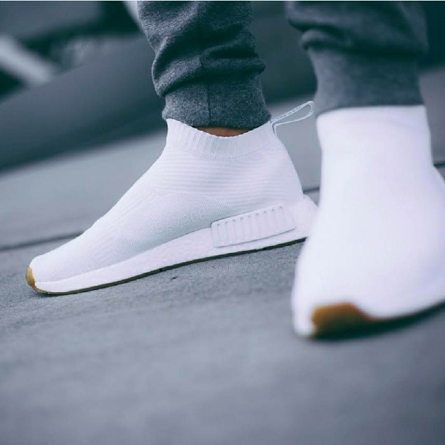 "best website c7172 68c47 ADIDAS ORIGINALS NMD CITY SOCK PK ""WHITE GUM"""