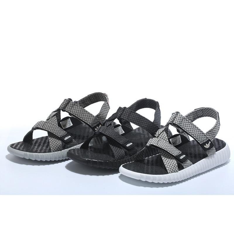 Adidas Yeezy boost中底透氣輕量運動休閒涼拖鞋魔鬼氈韋斯特侃爺椰子厚底有彈性 明星款情侶拖鞋 沙灘鞋