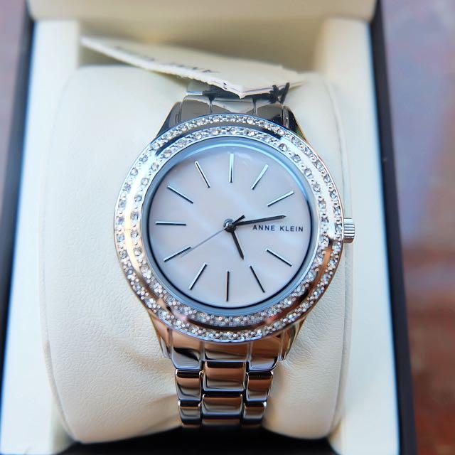 Anne Klein silver watch