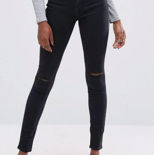 ASOS Skinny Ripped Knee Jeans