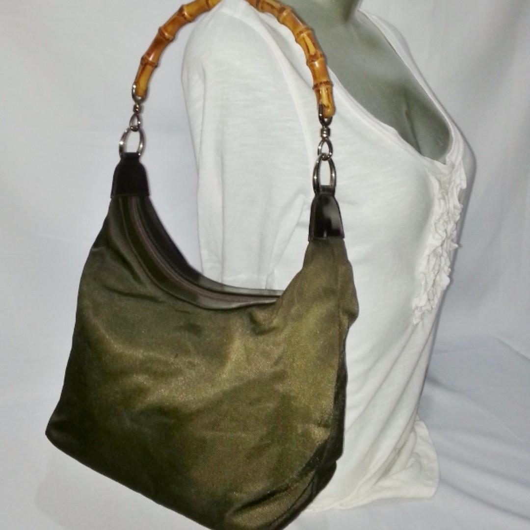 Authentic GUCCI Vintage Bamboo Handle Shoulder Bag