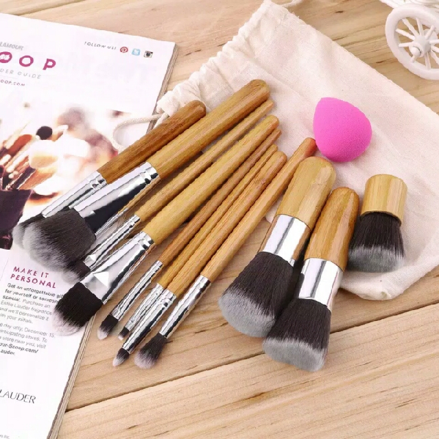 Bamboo Brush Set, Bambu Brush 11 Kuas