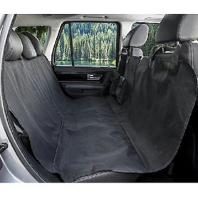 BarksBar Original Pet Seat Cover for Cars - Black, WaterProof & Hammock