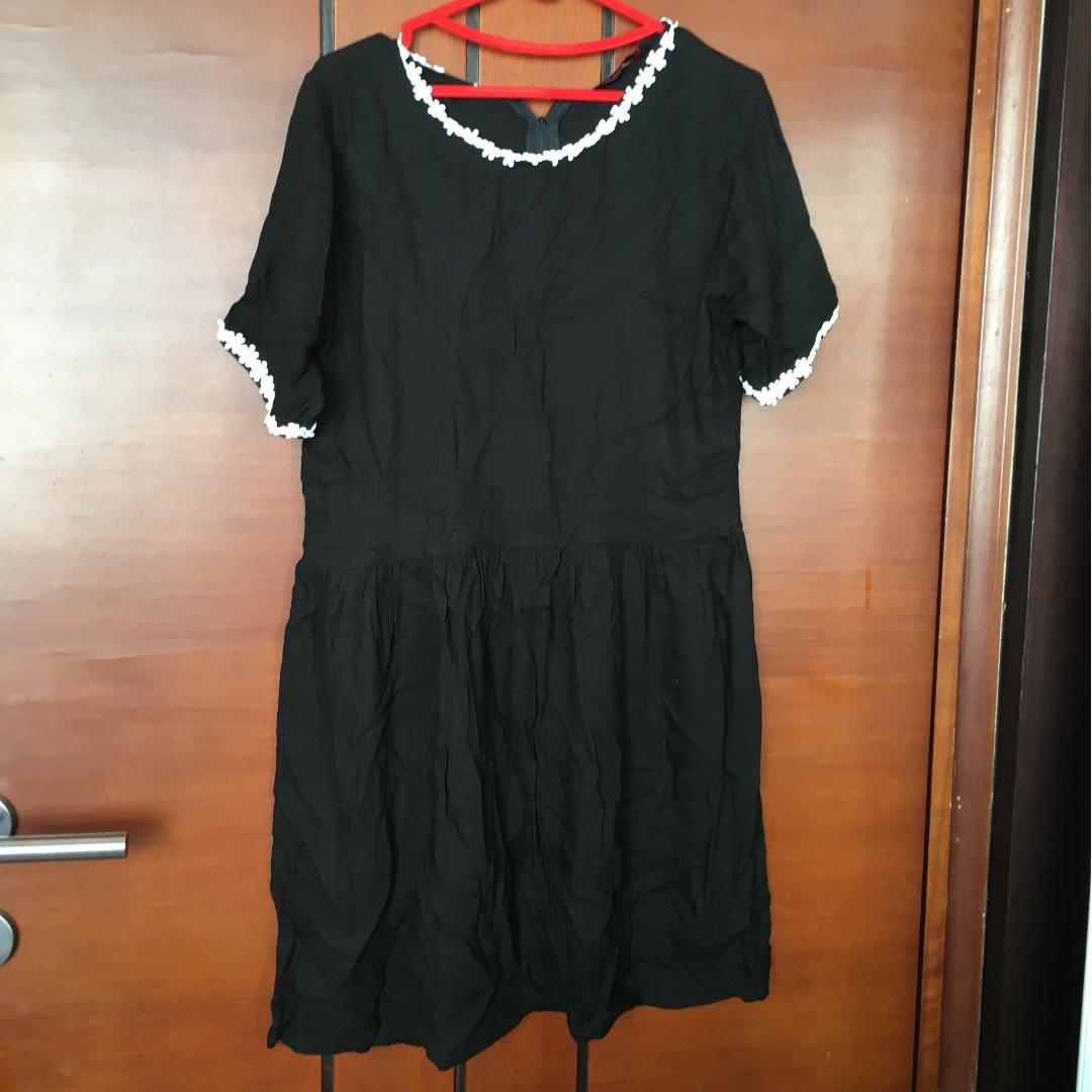 Black Flower Long Top