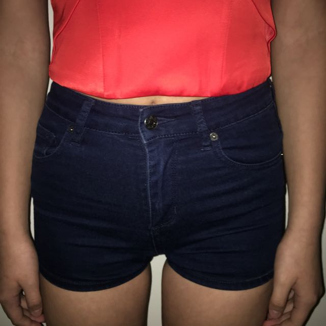 Blue denim RIDERS shorts