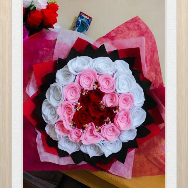 Bunga Mawar Flanel Desain Kerajinan Tangan Barang Aksesoris Kerajinan Di Carousell