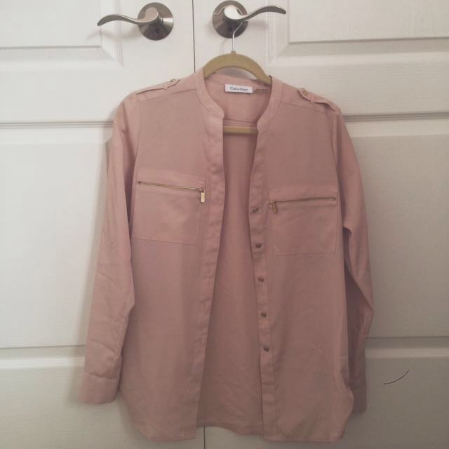 Calvin Klein Pink Button-Down