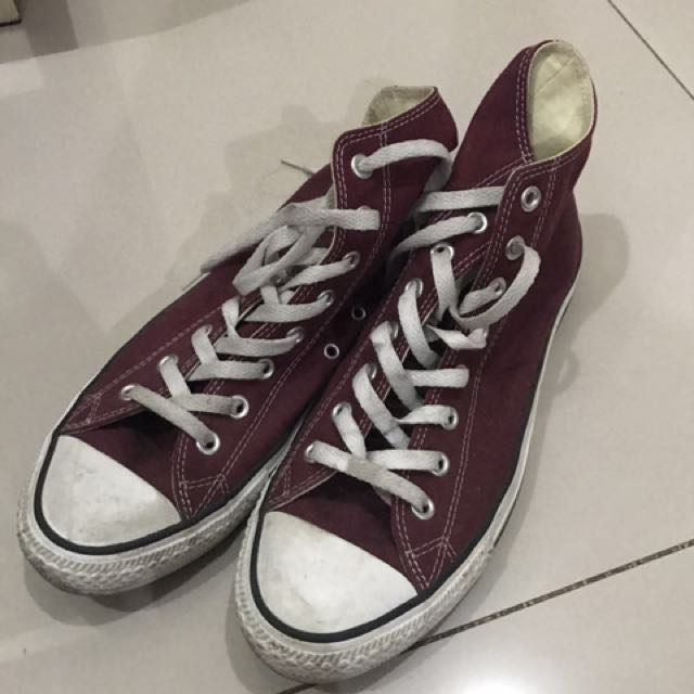 Converse original maroon high top