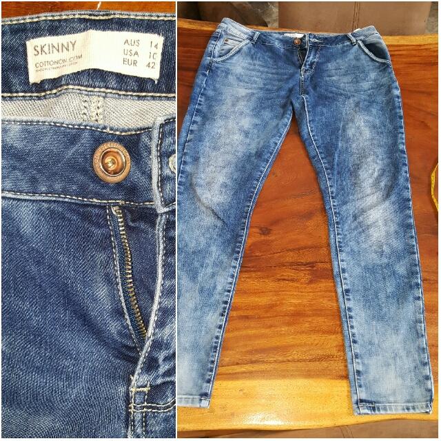 Cotton On Acid Jeans/ Denim