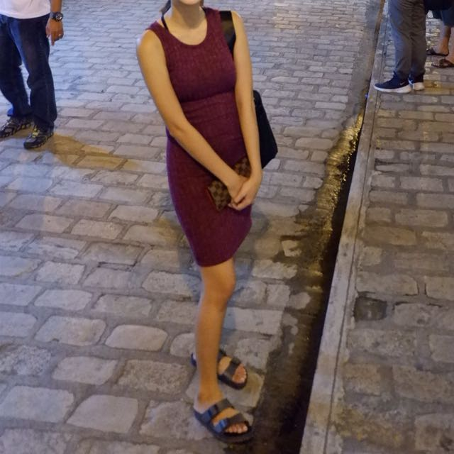 Cotton On maroon dress