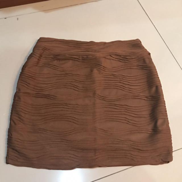 Cotton on mini skirt brown