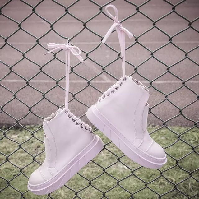 Cotton pink boots