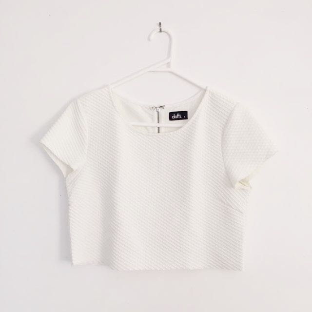 Dotti White Crop Top