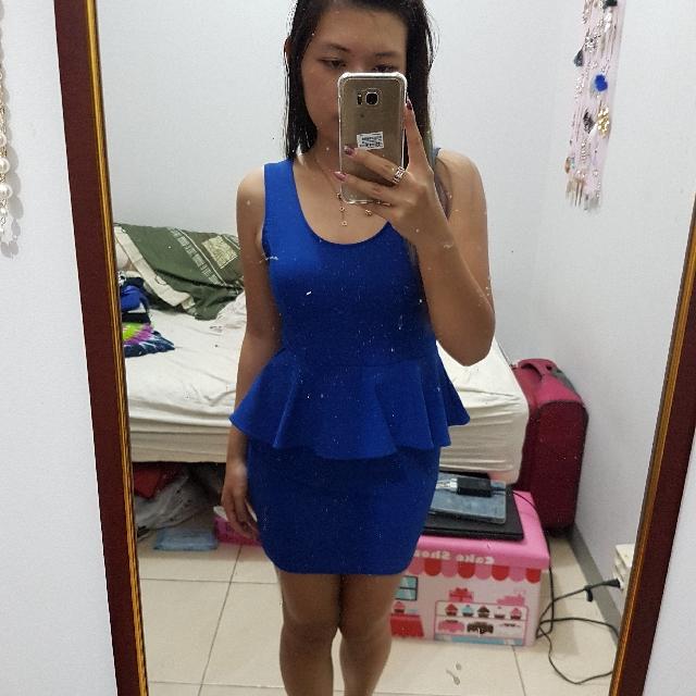 Dress Peplum Blue
