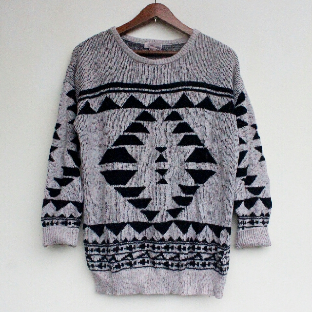 Forever21 Aztec Knitted Pullover