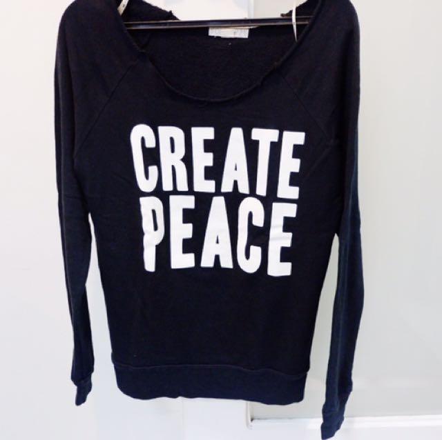 Forever21 Create Peace Sweater