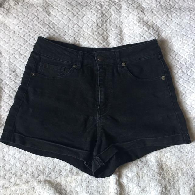 Forever21 HighWaist Black Denim Shorts